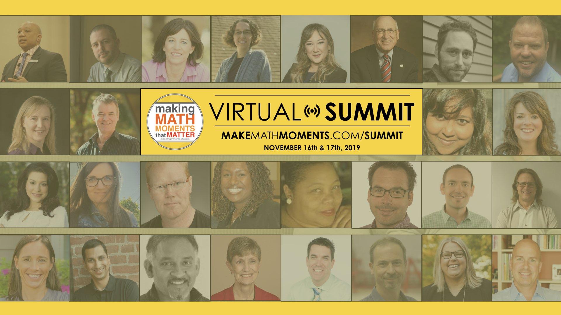 2019 Make Math Moments Virtual Summit Replays
