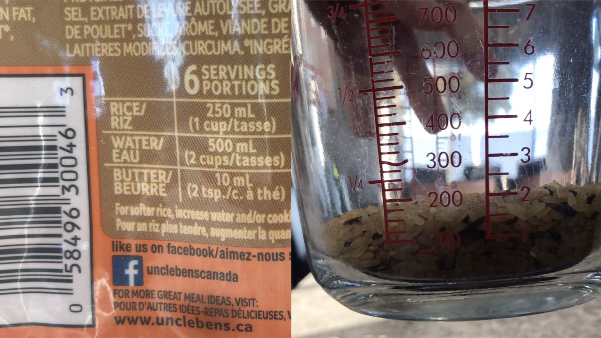 Uncle Bens Rice.009 Bag of Rice Measuring Cup