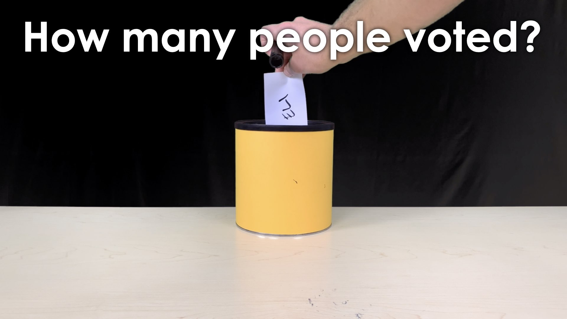 MMM Voting Booth Lesson.013 SPARK Prompt - How many people voted