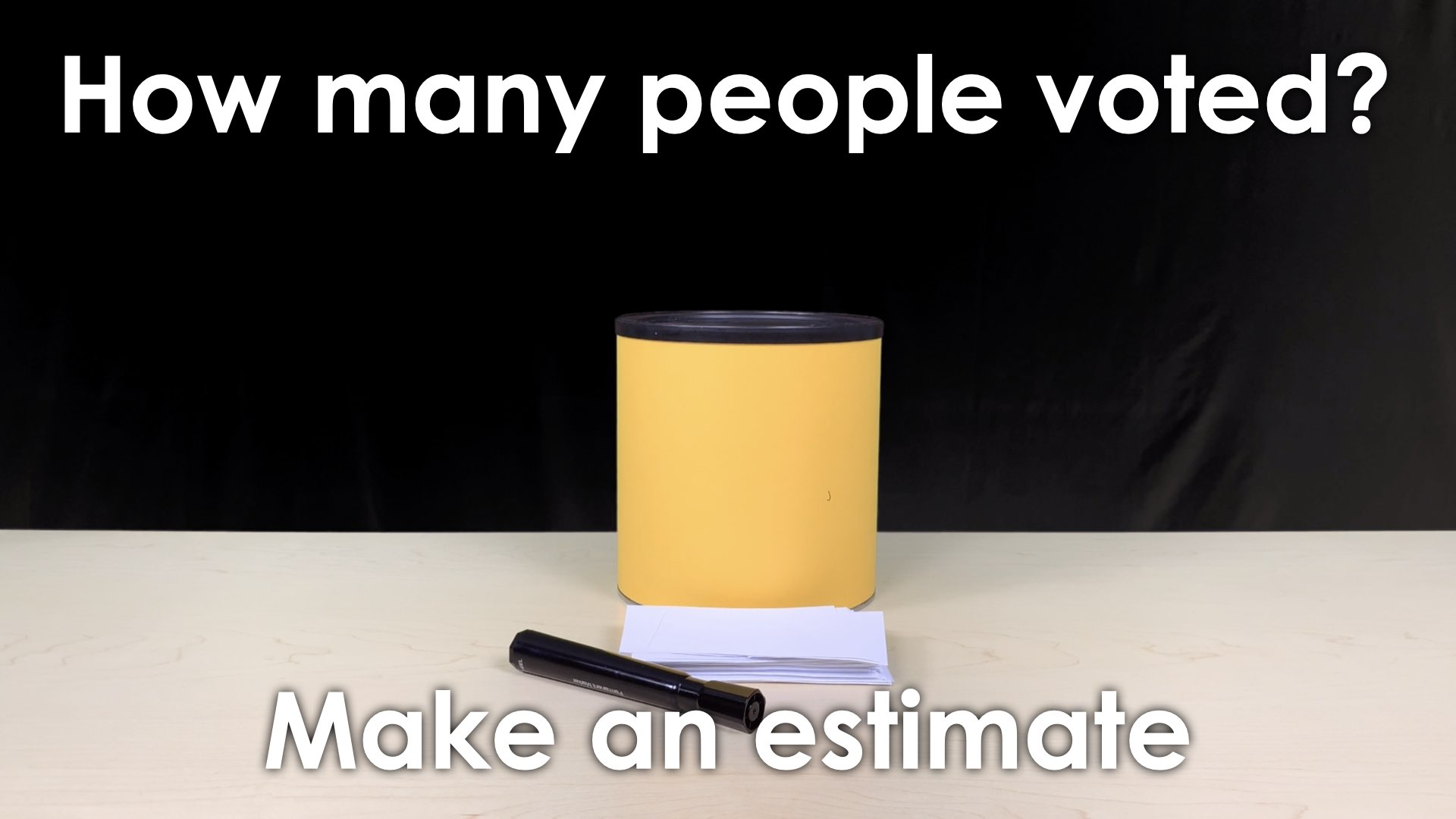 MMM Voting Booth Lesson.014 SPARK Make an estimate