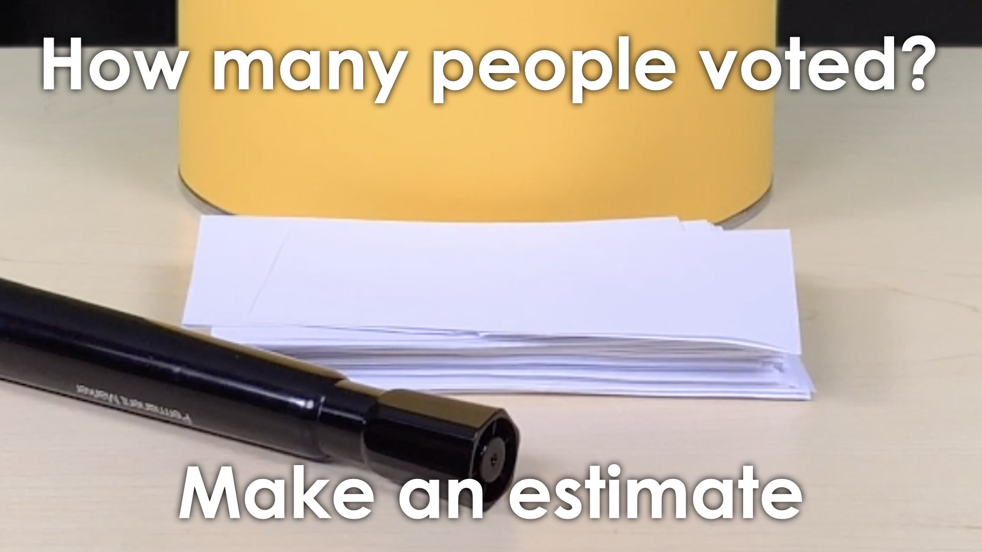 MMM Voting Booth Lesson.015 SPARK Make an estimate close up