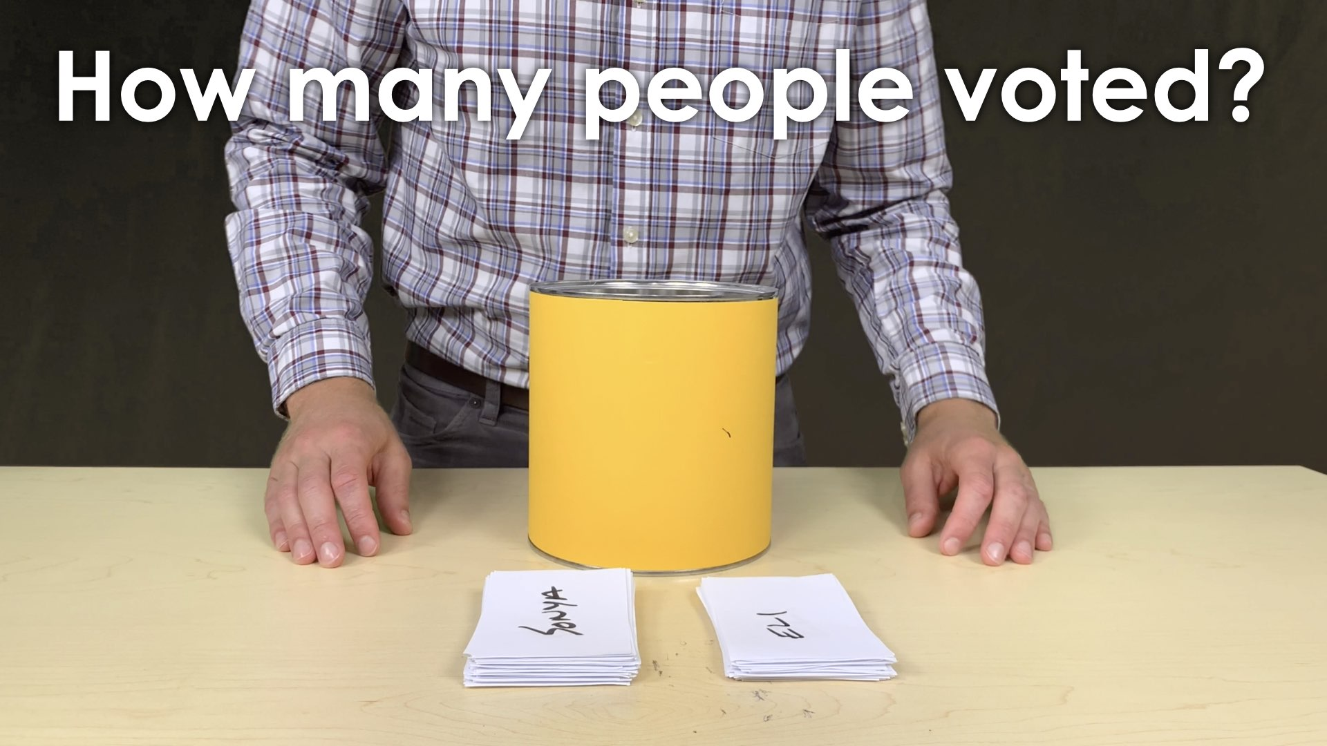 MMM Voting Booth Lesson.019 SENSE MAKING two piles