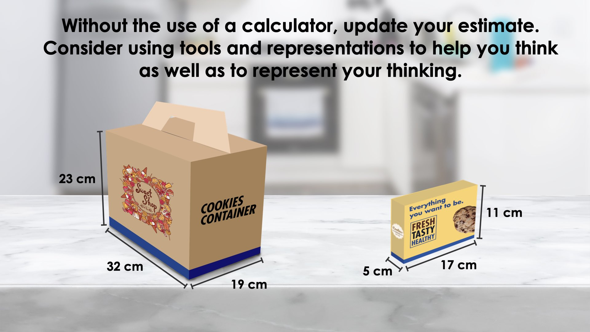 Girl Guide Cookies [Day 3] - How Many Boxes - 04 - Sense Making - Prompt Image With Measurements